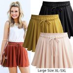 New Fashion Shorts Drawstring High Loose Shorts Elastic Waist Draped