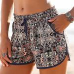 Shorts Bohemian Printed Loose Pockets Hot Trousers