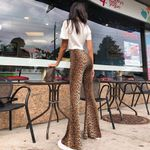 New High Waist Leopard Print Flare Leggings Fashion Sexy