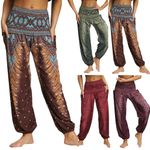 Casual Loose Hippy Trousers Baggy Boho Aladdin Loose Pants
