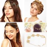 Bohemian Ethnic Gold Headpiece Headband Tassel