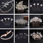 Miallo Fashion Austrian Crystal Wedding Hair Pins and Clips Rhinestone