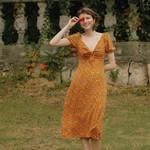 Design Beach Casual Midi Elegant Slim Dress