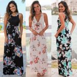 new Fashion New Floral Sleeveless Beach Off The Shoulder
