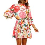 Boho Floral Mini New Casual Flower Print Ruffles Loose Long Dresses