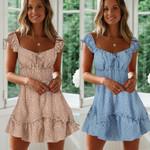 Boho Short Mini Evening Party Beach Dress