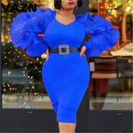 Hot List Sweet Young Of Note Sexy Club Novelty Fashion  Midi Dress