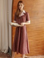 Design Vintage Elegant Slim Shirt Dresses