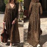 Fashion Leopard Print Maxi Dress