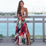 V-Neck Sleeveless Evening Party Beach Maxi Dress