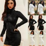 Bodycon Jumper Fleece Mini Dress