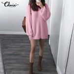 Knitted Sweater Celmia Sexy Mini Dresses
