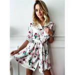 Boho Floral Paisley Mini Sun Dress
