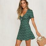 Casual Boho Short Sleeve Beach Dress