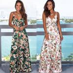 Clothes New Elegant Long DressFloral Print Boho Dress