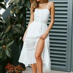 Hot Backless White Sweet Split Holiday Maxi Boho Floral Dress