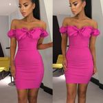 Brand New Off Shoulder Bandage Lovely Sexy Fashion Fold Bodycon  Dress