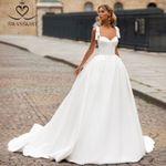 Sweetheart Satin Wedding Vintage Sleeveless A-Line Lace up Princess