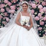 New Luxury Crystal Long Wedding Dresses