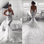 Vintage Full Lace Mermaid Wedding Dresses