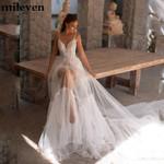 Beach Wedding V Neck Sexy Spaghetti Strap Bridal Gowns Vestido
