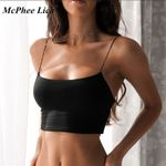 Sexy Crop Tops Cotton Sleeveless Straps Tank Camis Top