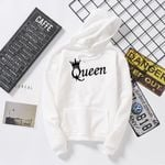 Crown Print Men Women Streetwear Long Sleeve Hoodies