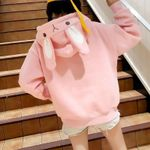 Kawaii Rabbit Ear Hooded Sweatshirt Korean