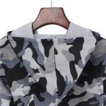 Camouflage Printed Cropped Hoodies Sweatshirts Long Sleeve