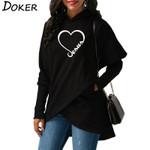 Hoodies Sweatshirts New Love Heart Jesus Faith Print Long Sleeve Hoodies
