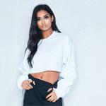Strretwear Fashion Casual Long Sleeve Solid Loose Sweatshirt