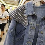 Heavy Industry Rivet Cowboy Coat Short Denim Jacket