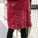 size Large thick Parkas Long Hooded wadded jacket
