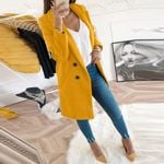 Artificial Wool Elegant Blend Coat Slim Plus Size