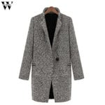 Coats Slim Warm Wool Lapel Long Coat  Jacket
