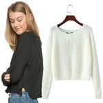 new crop sweater casual sexy and pullovers