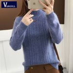 Knitted Sweater Long Sleeve Thick Soft Pullovers