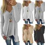 Sweaters  Fashion Solid V Neck Pullovers Sexy Casual