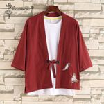 Kimono Shirt Coat Japanese Traditional