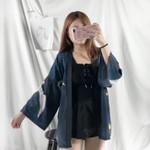 Couple Fashion Coat Japanese Cardigan Kimono Large Size