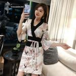 Japanese Silk Robe Kimono Asian Sexy Cosplay Costume