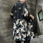 Japanese Long Kimono Cardigan Robe Samurai costume Jacket
