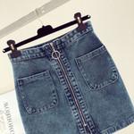 Denim Vintage High Waist Slim Tutu Jean Skirt