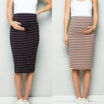 Fashion Maternity Skirt Cotton blends Comfort High