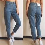 Light Blue Plus Size Ankle-length Cargo Pants