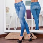Legs Shaping Leggings Jeans Pants Pull-on Skinny