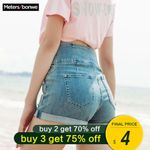 Denim Shorts For Ribbons Jeans Trendy Casual