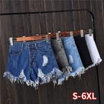 High Waist Denim Short Jeans