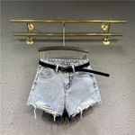 Jeans Loose High Waist Wide-leg Denim Shorts