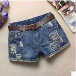 Jeans Shorts Washed Scratching Hole Casual Denim Sexy